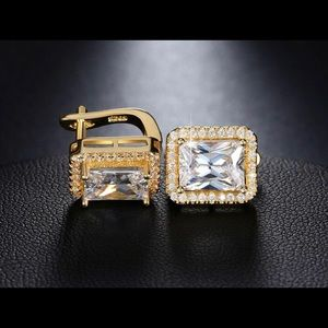 Cubic Gold plated Diamond Earrings